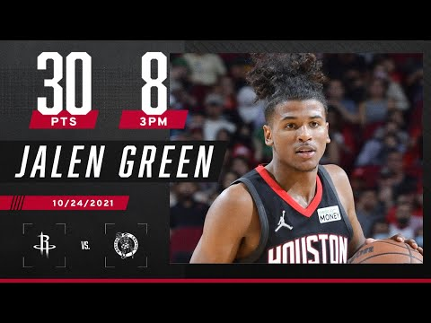Jalen Green breaks out in a BIG way with career-high 30 pts vs. Celtics