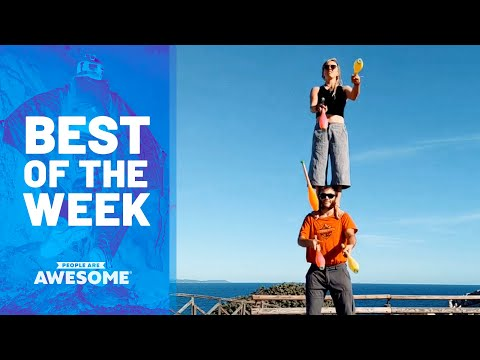 Downhill Bike POV, Kid Aces Pull Ups, Juggling Balance Duo & More!   Best of the Week