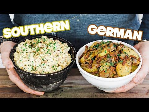 Making Homemade Potato Salad 2 Ways » Southern Style and German