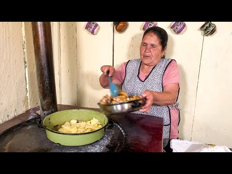 Pollito Dorado con Papas De Mi Rancho A Tu Cocina