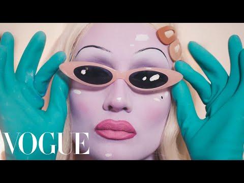 Juno Birch Breaks Down Her Alien Queen Beauty Routine | Extreme Beauty | Vogue