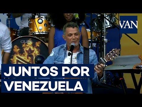 JUANES, ALEJANDRO SANZ y CHINO Y NACHO cierran el 'Venezuela Aid Live'