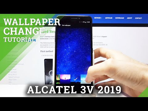 How to Change Wallpaper in ALCATEL 3V 2019 – Refresh Display Look