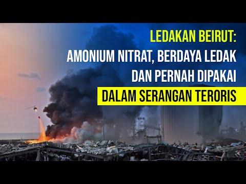 Amonium Nitrat, Zat Berdaya Ledak dalam Ledakan Beirut