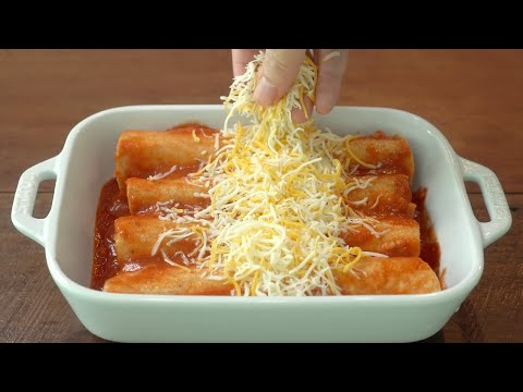 이제 또띠아를 토마토에 적셔보세요 :: 또띠아요리 :: 치킨 엔칠라다 만들기 :: 멕시칸요리 :: Chicken Enchilada Recipe