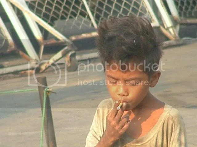young boy in Phnom Penh