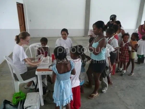 Renate on her medical outreach