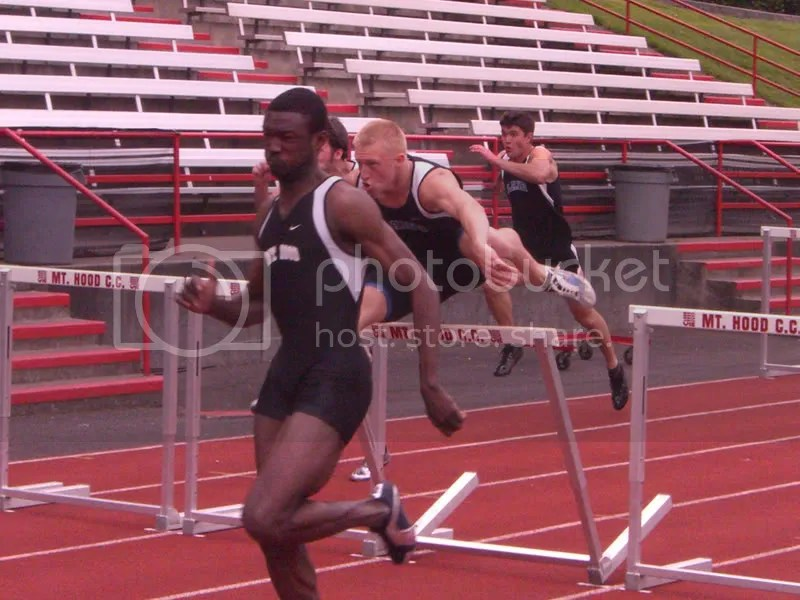 Collin in the Hurdles
