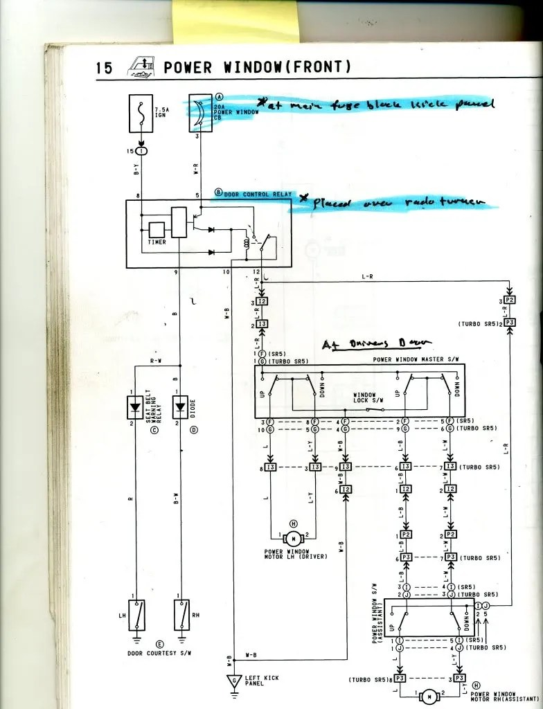 1991 Toyota 4runner Electrical Diagram