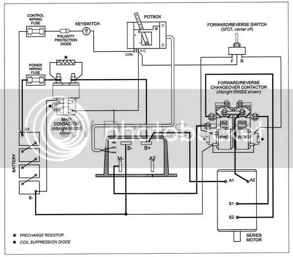 Wiring Diagram For Series Cart W, Reversing Contactor Wiring Diagram
