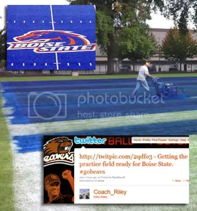 Oregon State blue boise state practice field