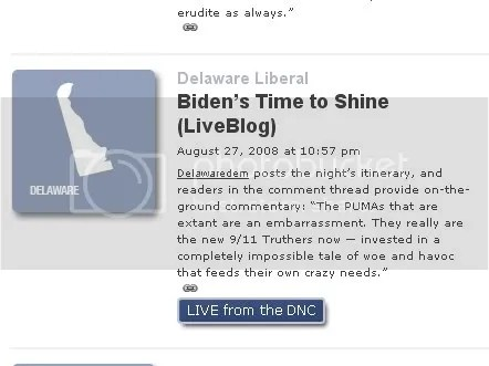 Delaware Liberal's Prime Time Moment