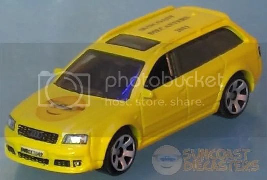 Suncoast Diecasters 2011 Club Vehicle: Matchbox Audi RS6 Avant