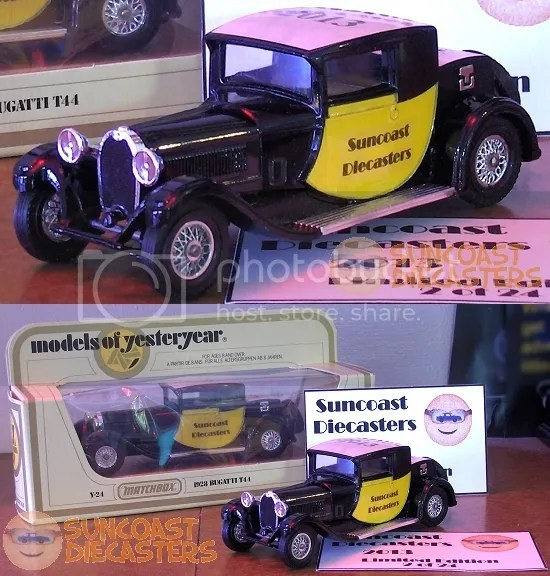Suncoast Diecasters 2013 Club Vehicle: Matchbox 1928 Bugatti T44 [Models of Yesteryear]