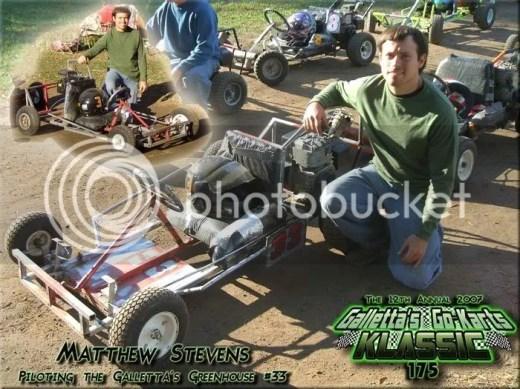 Matt Stevens of Galletta's Greenhouse Speedway's 2007 Klassic 175 (20 mile race)