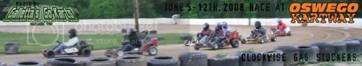 Clockwise Gas Stocker Karts on 6/5-12/2008 at Oswego Kartway