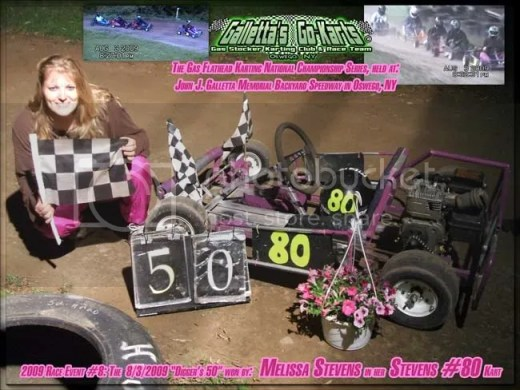 8/3/2009,Melissa Stevens,Winner,Galletta's Karting