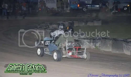 Eric Raponi (6.5hp OHV) vs. Matt Stevens (5hp FH) was the usual battle for the lead in this class for most of the 2007 season.