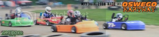 Junior Raptor Flat Karts 5/30/2008 at Oswego Kartway