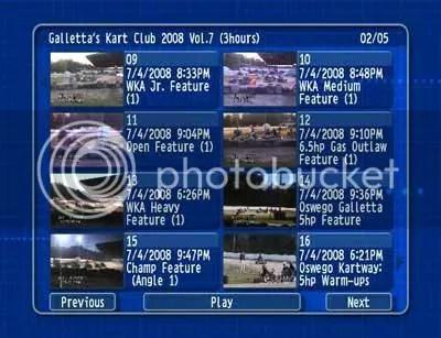 Oswego Kartway 2008/07/04 DVD 2