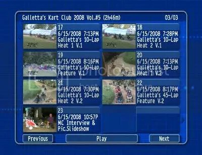 Oswego Dirt Karting 2008 Volume 5 menu 3