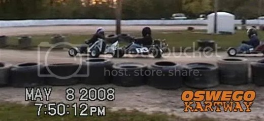 Gas Stocker Feature Crash - Oswego Kartway 8/5/2008