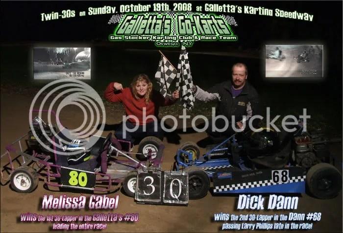 Melissa Gabel & Dick Dann win on 10/19/2008