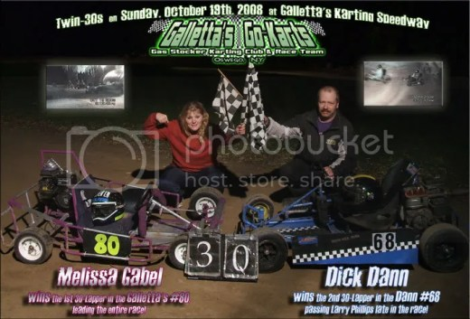 Melissa Gabel & Dick Dann win on 10/19/2008