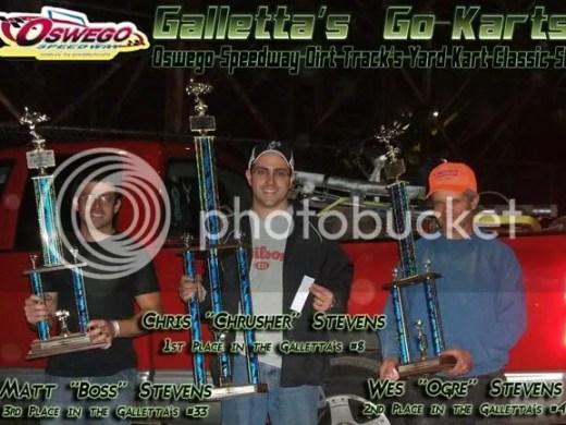 Oswego Speedway Classic Weekend - Dirt Yard Kart Division Top 3