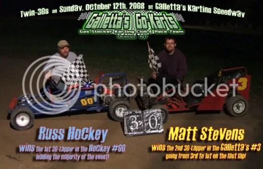 Russ Hockey & Matt Stevens win the Twin-30s on 10/12/2008