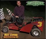 Matt Stevens in the Galletta's #3 Kart (2008 pic)