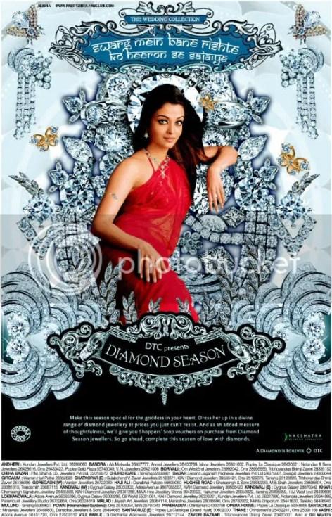 Aishwarya Rai on Nakshatra diamonds ad posters pictures wallpapers