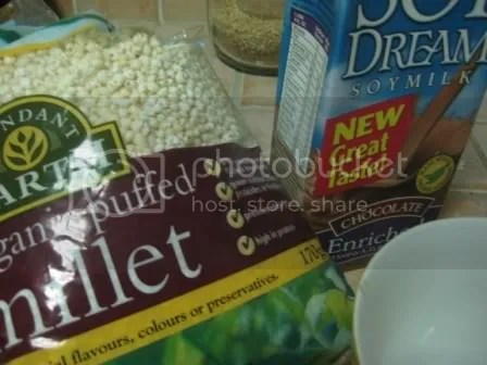 millet and chocolate soy milk