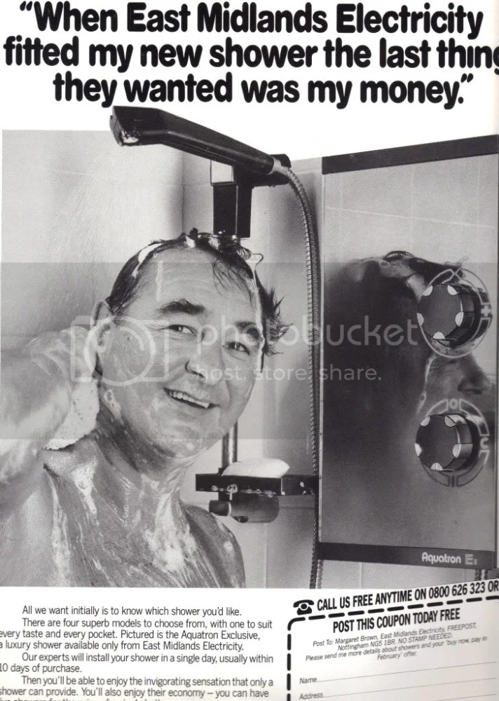 Brian Clough in the shower (5/6)