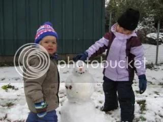 A Halloween Snowman