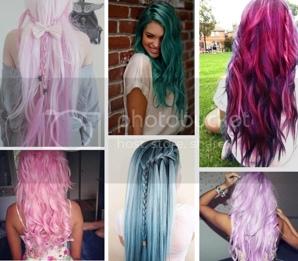 Colorful hair @ foreverpetite.net