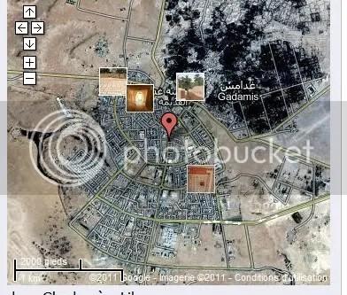 Ghadames map