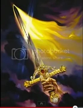 flaming sword of victory