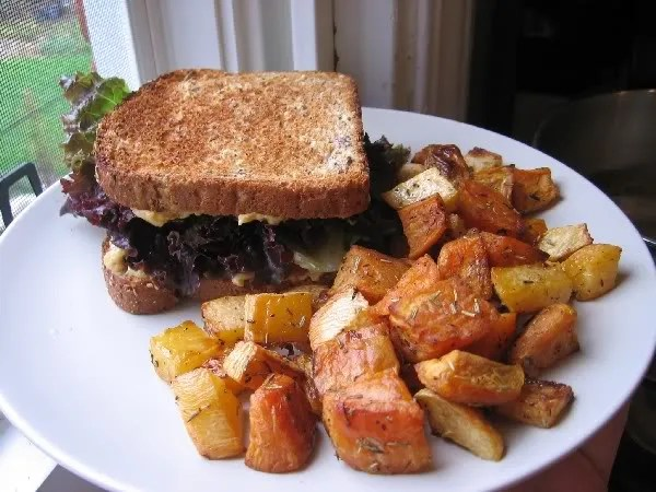 Cheese Sandwich and Roasties