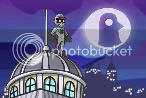 super héros pigeon masqué