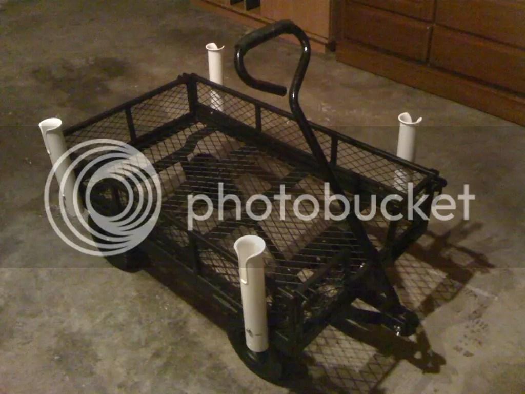 Homemade Pier Fishing Carts