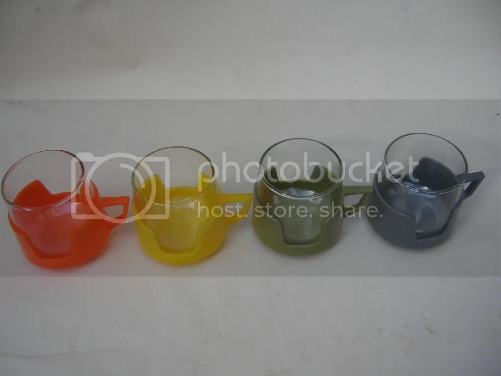'JAJ' Pyrex Cups