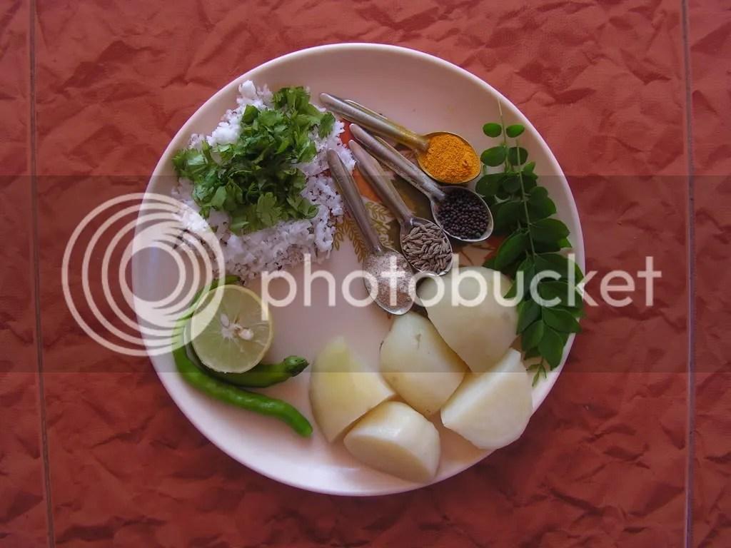 Ingredients of Alu Parata