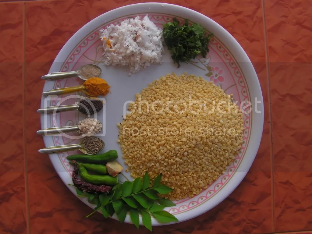 Ingredients of MoongDal Usli
