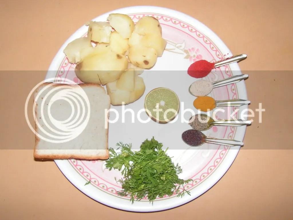 Ingredients of Alu tikkies