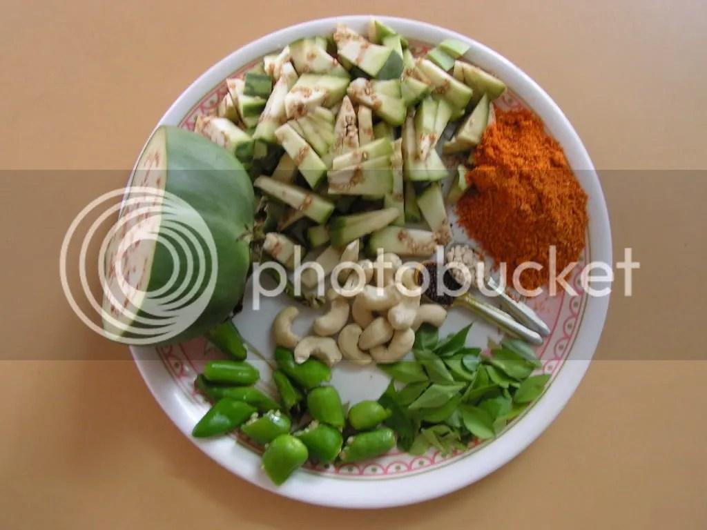 Ingredients of Vangi bhath