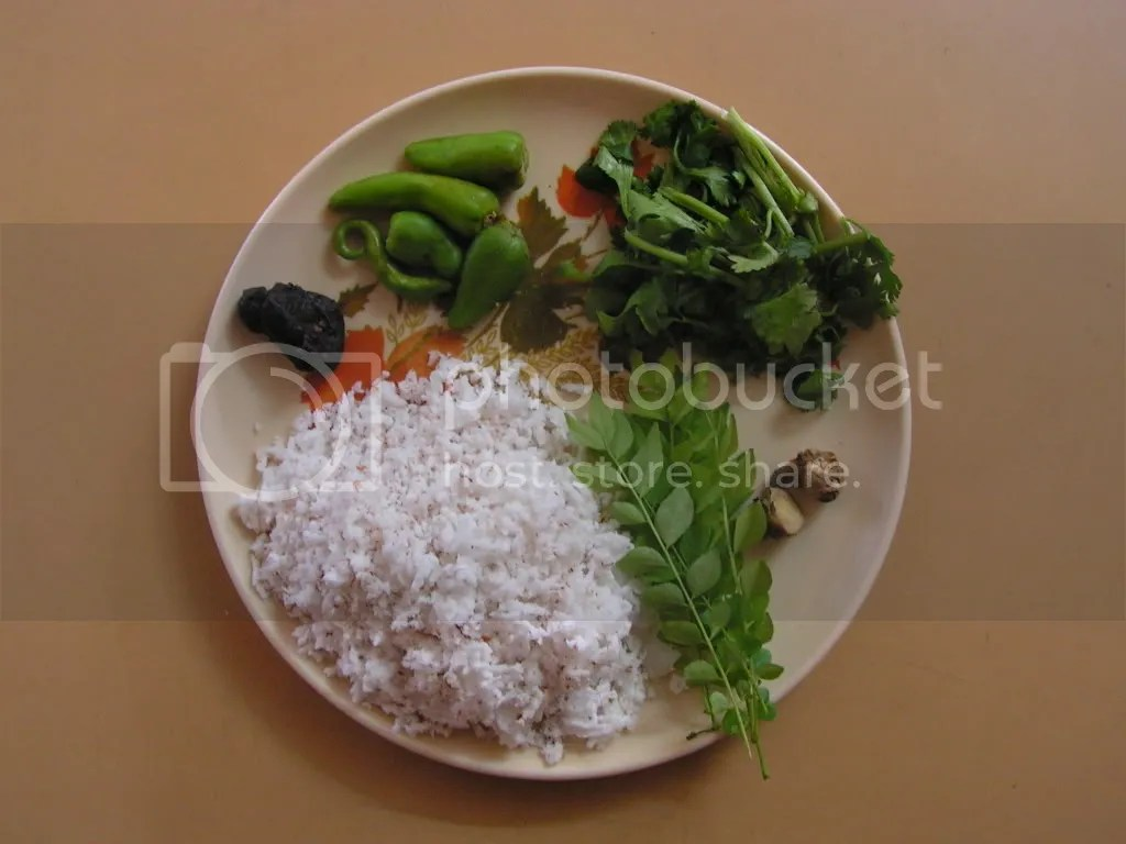 Ingredients of Green chutney