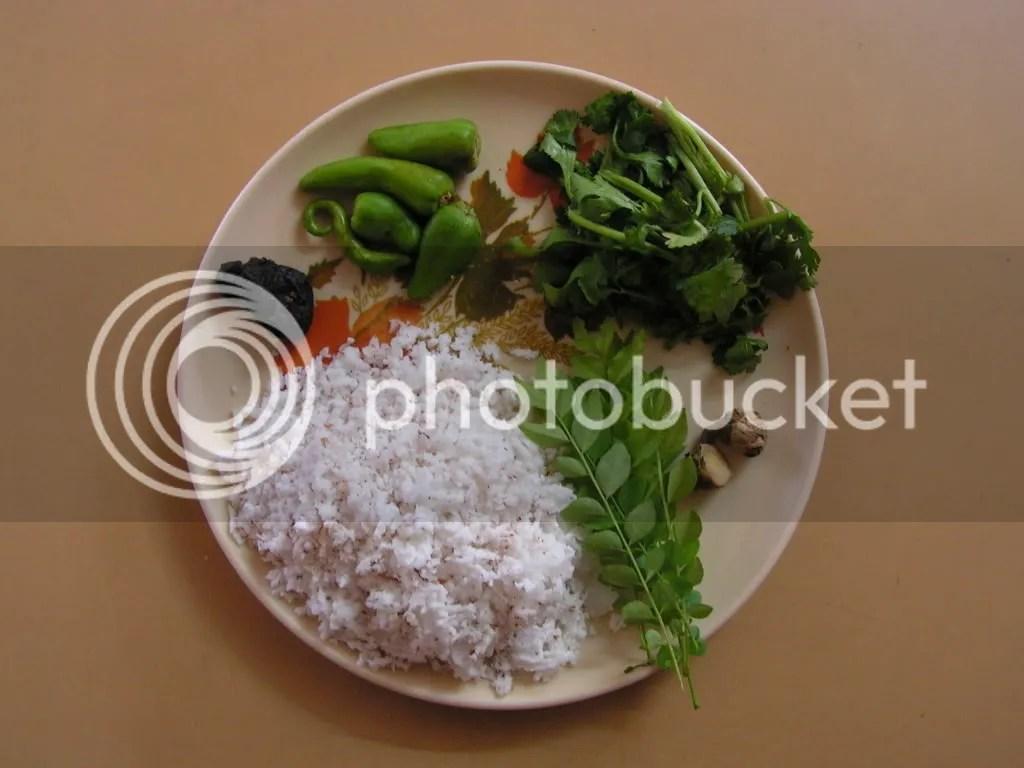 Ingredients of Green chutney