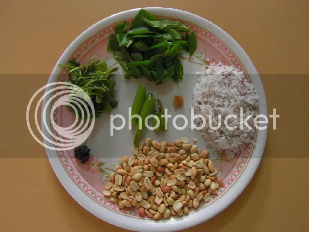 Ingredients of peanut chutney