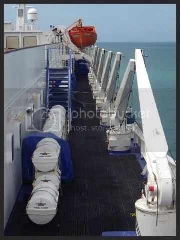 Rosana's favourite bit of any ship - the lifeboats